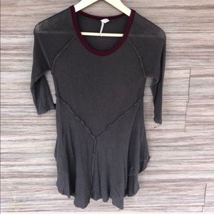 Free People Distressed layering top -A7